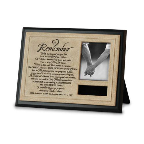 Desk/Plaque - Remember - Memory Photo Frame
