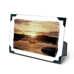 "Desk/Plaque - Scripture Gift -  ""I Can Do Everything Through Him"""