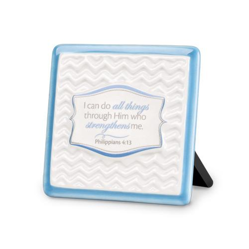 "Scripture Gifts - ""I can do all things through Him"" Plaque - Love the Lord Inc"