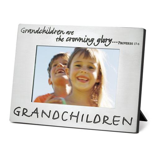 "Scripture Gifts - Photo Frame ""Grandchildren Are the Crown"" - Love the Lord Inc"