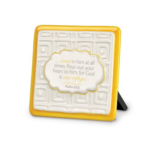"Scripture Gifts - ""Trust In Him.. God is our Refuge"" Plaque - Love the Lord Inc"