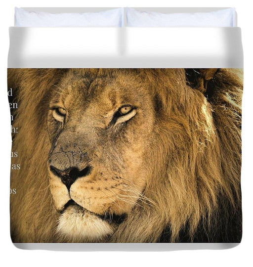 Bold As A Lion - Duvet Cover - Love the Lord Inc