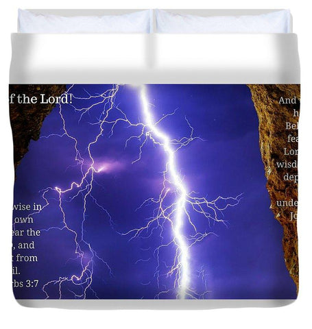Duvet Cover - Fear Of The Lord Proverbs And Job - Duvet Cover
