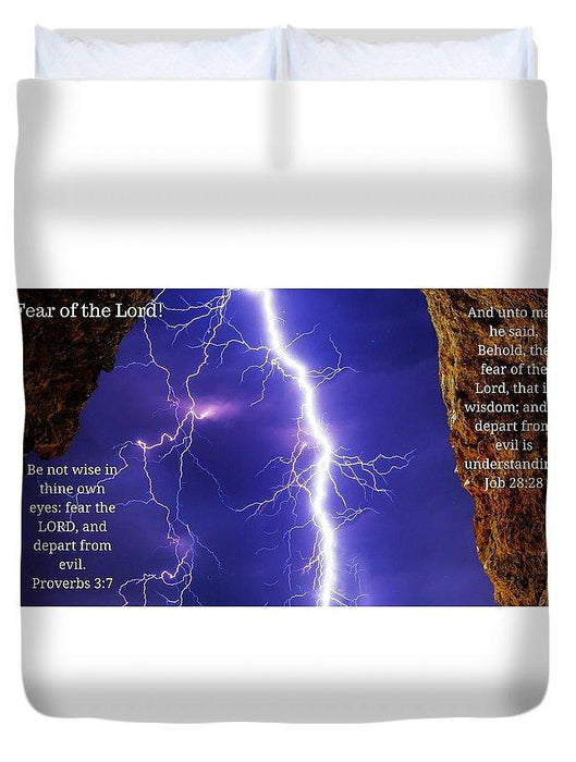 Fear Of The Lord Proverbs And Job - Duvet Cover (Comforter) - Love the Lord Inc