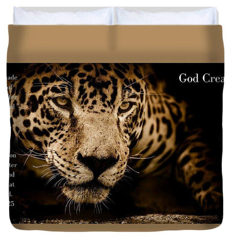 Duvet Cover - God Created Jaguar - Duvet Cover