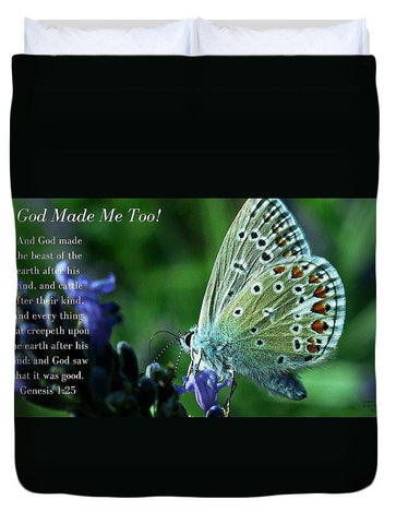Duvet Cover - God Made Me Too - Duvet Cover