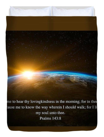 Duvet Cover - Hear Thy Lovingkindness In The Morning - Duvet Cover