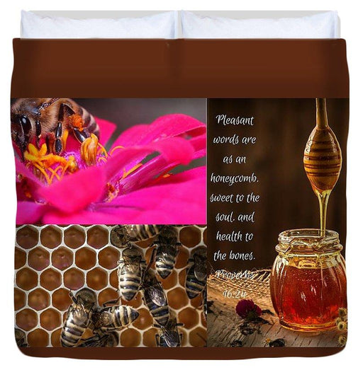 Pleasant Words And Honey - Duvet Cover - Love the Lord Inc
