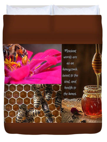 Duvet Cover - Pleasant Words And Honey - Duvet Cover
