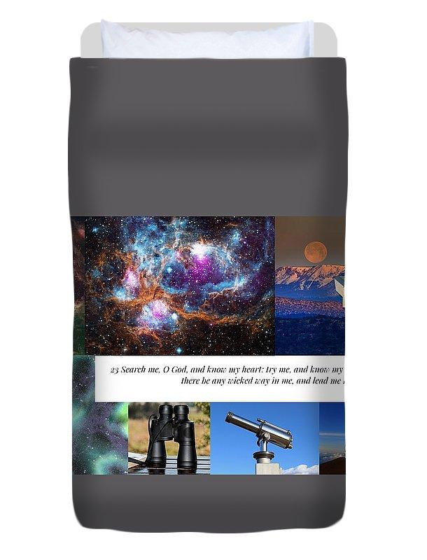 Search Me Oh Lord - Telescope - Duvet Cover - Love the Lord Inc