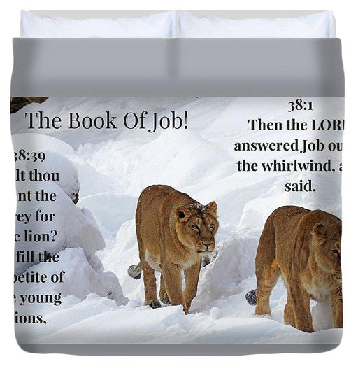 The Book Of Job 2lions - Duvet Cover - Love the Lord Inc