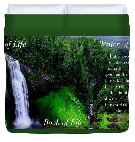Duvet Cover - Tree Book Water Of Life - Duvet Cover