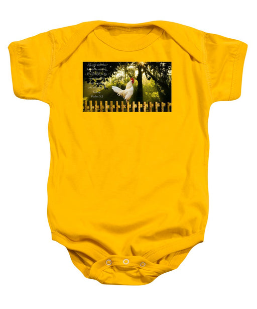 Early In The Morning I Pray - Baby Onesie - Love the Lord Inc