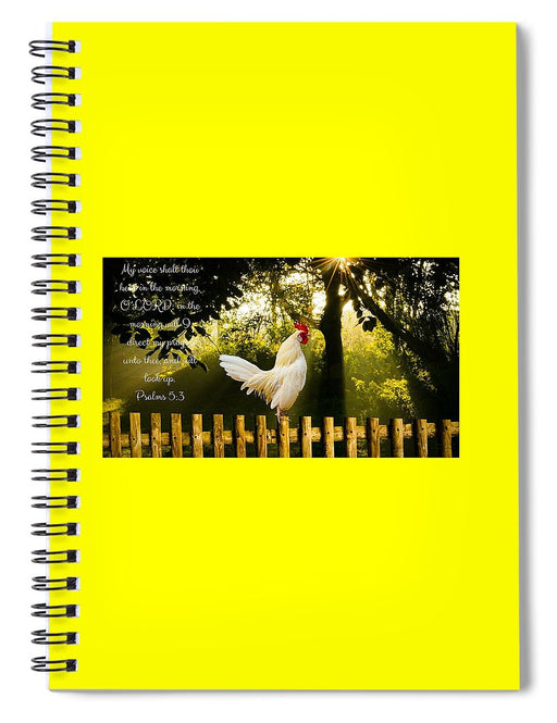 Early In The Morning I Pray - Spiral Notebook - Love the Lord Inc