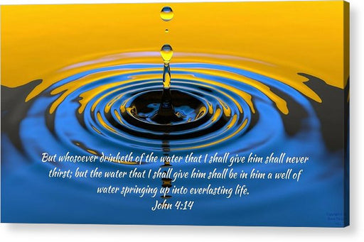 Everlasting Water Of Life  - Acrylic Print - Love the Lord Inc