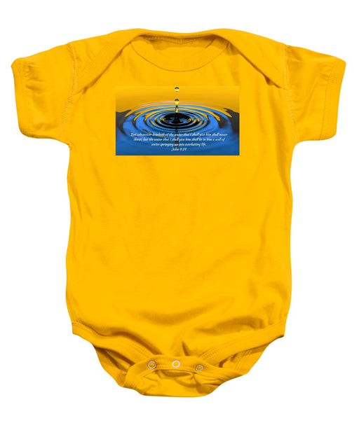 Everlasting Water Of Life  - Baby Onesie - Love the Lord Inc