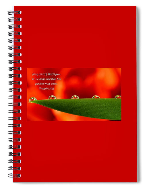 Every Word of God Pure Org - Spiral Notebook - Love the Lord Inc