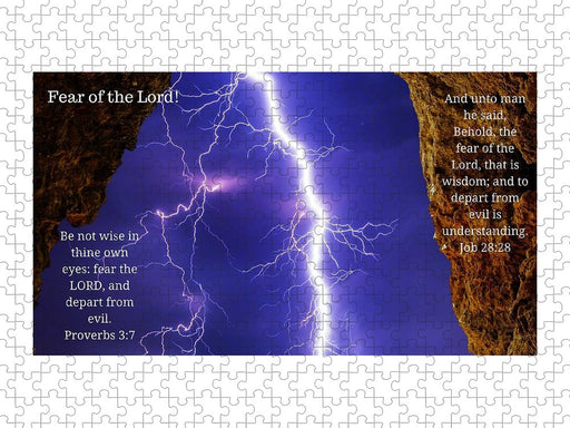 Fear Of The Lord Proverbs and Job - Puzzle - Love the Lord Inc