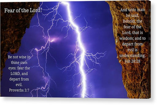 Fear Of The Lord Proverbs and Job - Acrylic Print - Love the Lord Inc
