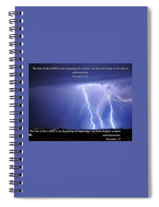Fear Of The Lord - Thunder - Spiral Notebook - Love the Lord Inc