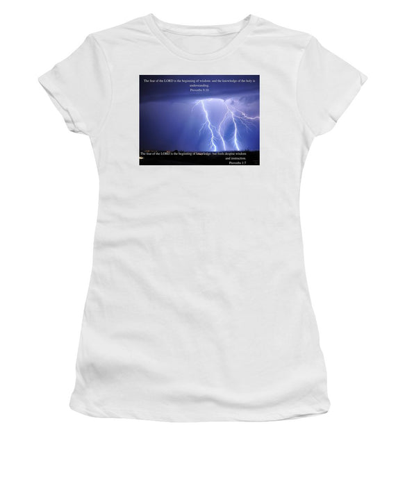 Fear Of The Lord - Thunder - Women's T-Shirt - Love the Lord Inc
