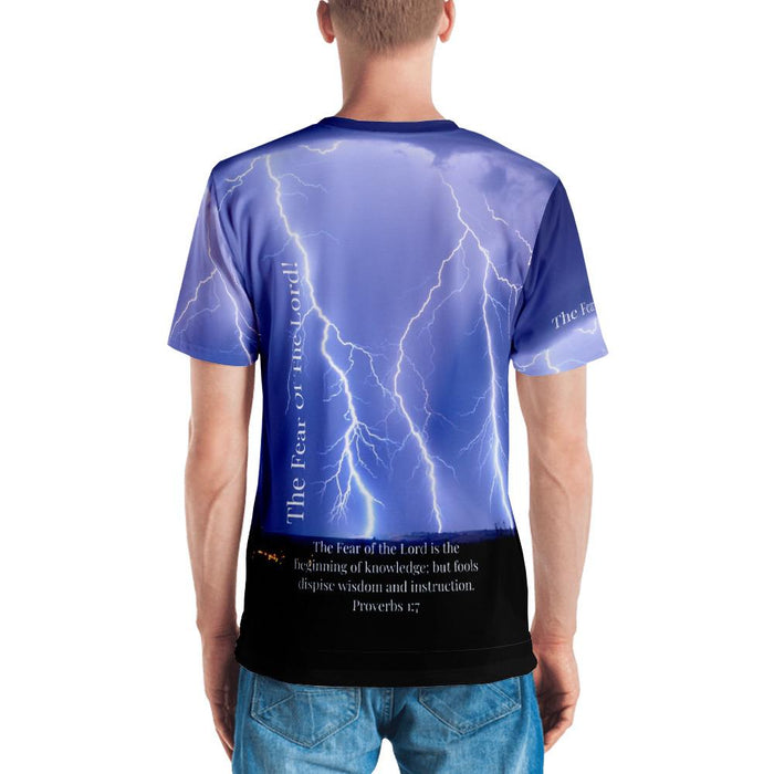 Fear Of The Lord - Thunder (Men's T-shirt) - Love the Lord Inc