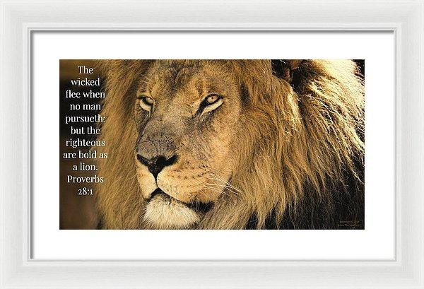 Bold As A Lion - Framed Print - Love the Lord Inc