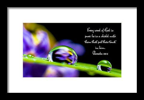 Framed Print - Every Word_i2_lovethelordinc - Framed Print