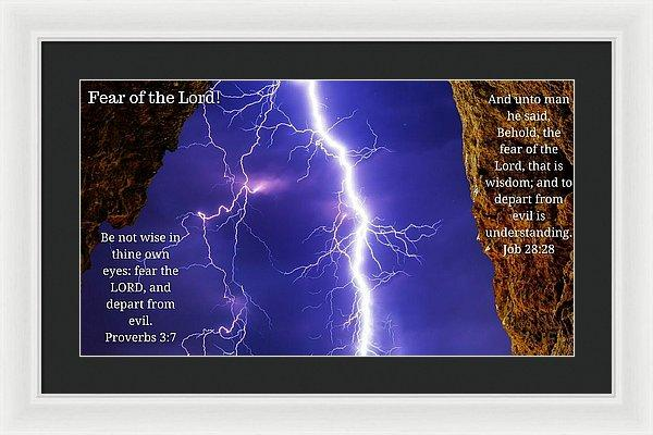 Fear Of The Lord Proverbs And Job - Framed Print - Love the Lord Inc