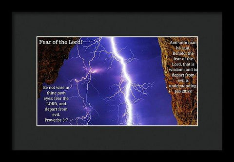 Framed Print - Fear Of The Lord Proverbs And Job - Framed Print