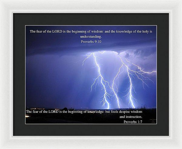 Fear Of The Lord - Thunder - Framed Print - Love the Lord Inc