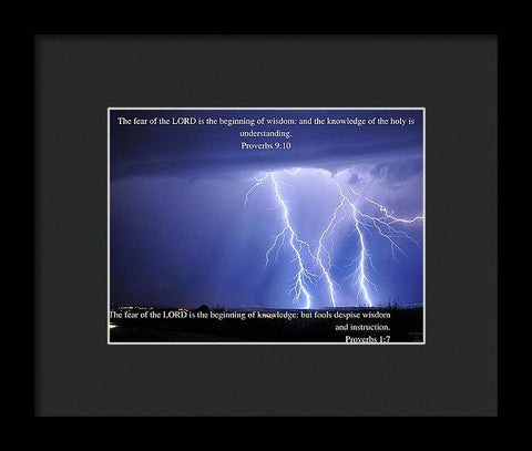 Framed Print - Fear Of The Lord - Thunder - Framed Print