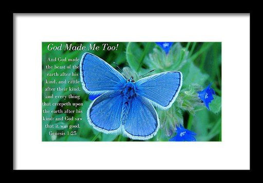 God Made Me Too Bf2 - Framed Print - Love the Lord Inc
