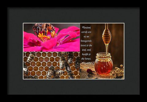 Framed Print - Pleasant Words And Honey - Framed Print