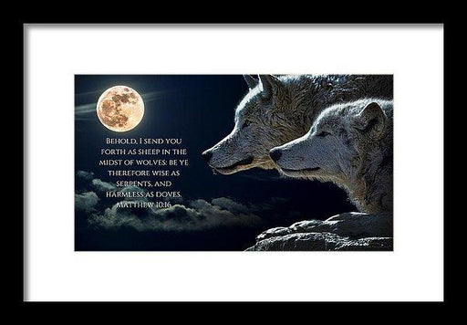 Sheep Amongst Wolves - Framed Print - Love the Lord Inc