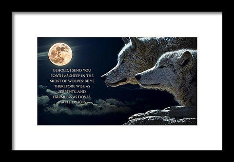 Framed Print - Sheep Amongst Wolves - Framed Print