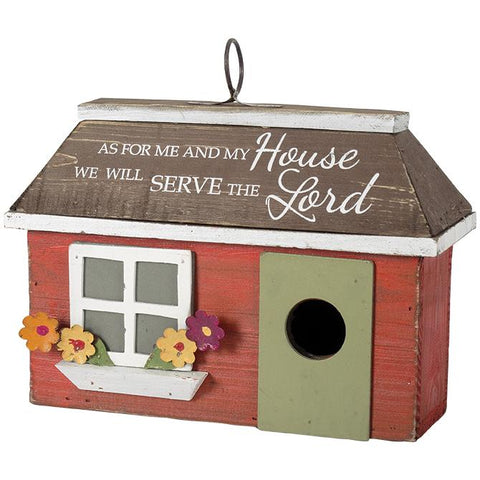 Garden & Patio - Bird House - As For Me And My House, We Will Serve The Lord