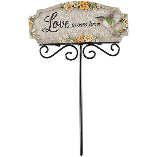 Garden/Plant Pick - Love Grows Here - Love the Lord Inc