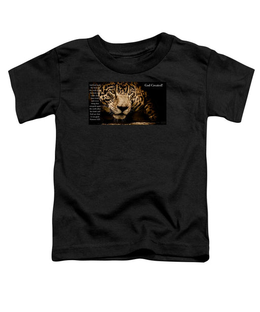 God Created Jaguar - Toddler T-Shirt - Love the Lord Inc