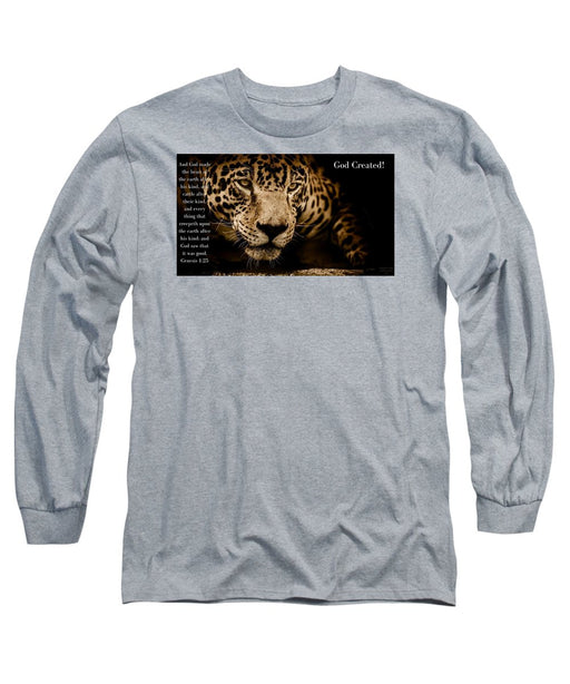God Created Jaguar - Long Sleeve T-Shirt - Love the Lord Inc