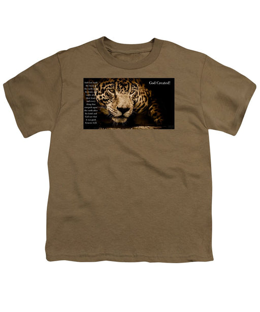God Created Jaguar - Youth T-Shirt - Love the Lord Inc