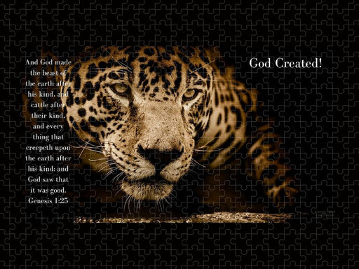 God Created Jaguar - Puzzle - Love the Lord Inc