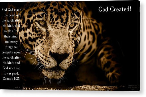 God Created Jaguar - Acrylic Print - Love the Lord Inc