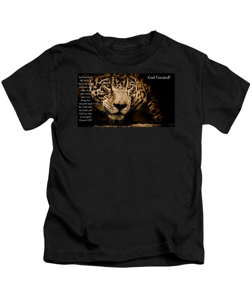 God Created Jaguar - Kids T-Shirt - Love the Lord Inc