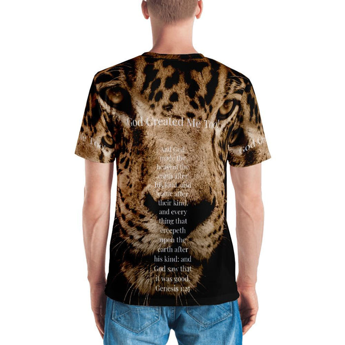 God Created Me Too! Jaguar (Men's T-shirt) - Love the Lord Inc