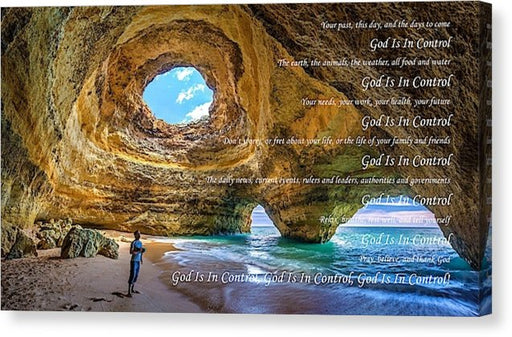 God Is In Control - Canvas Print - Love the Lord Inc