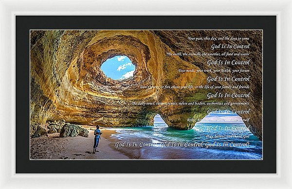 God Is In Control - Framed Print - Love the Lord Inc