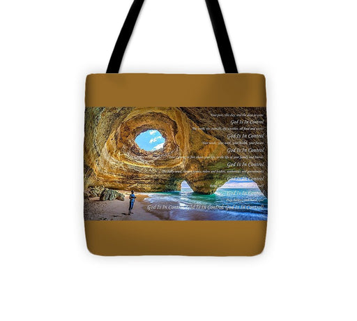 God Is In Control - Tote Bag - Love the Lord Inc
