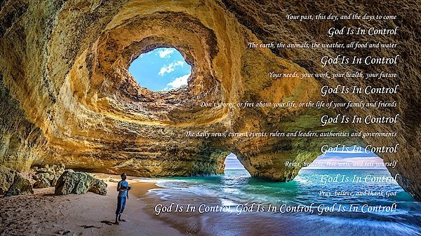 God Is In Control - Art Print - Love the Lord Inc
