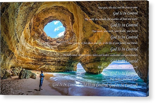 God Is In Control - Acrylic Print - Love the Lord Inc